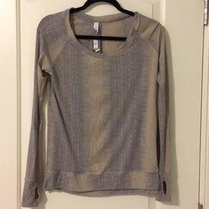Lululemon grey & tan long sleeve top